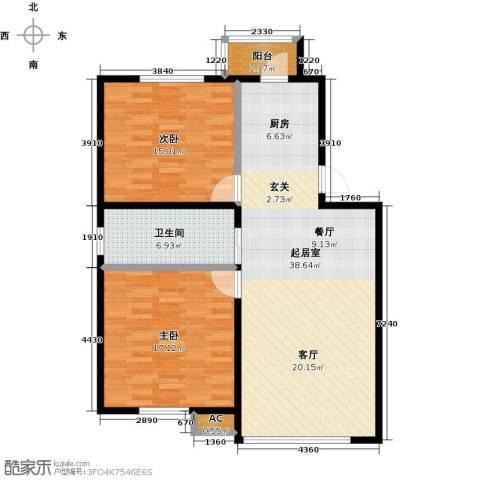 大树花园2室0厅1卫0厨89.00㎡户型图