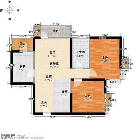 欧铂城2室0厅1卫1厨97.00㎡户型图