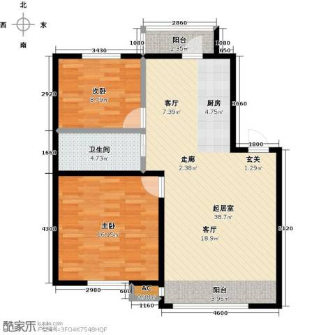 大树花园2室0厅1卫0厨79.00㎡户型图