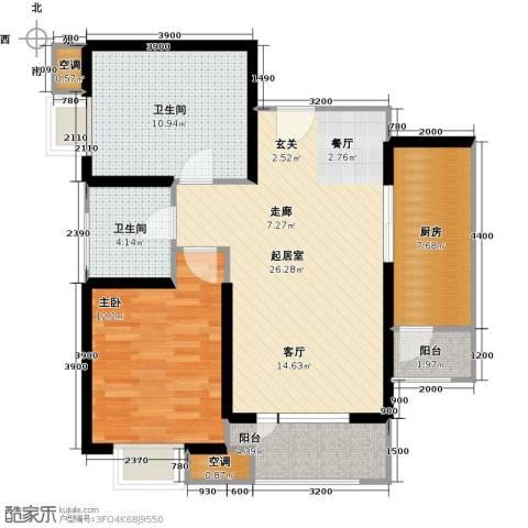 欧铂城1室0厅2卫1厨99.00㎡户型图