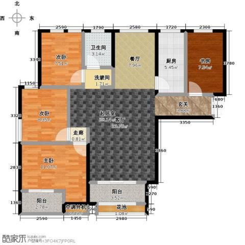 紫金华府4室0厅1卫1厨107.00㎡户型图