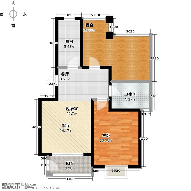 大地十二城易楠林 一室一厅一卫 68-69平米户型
