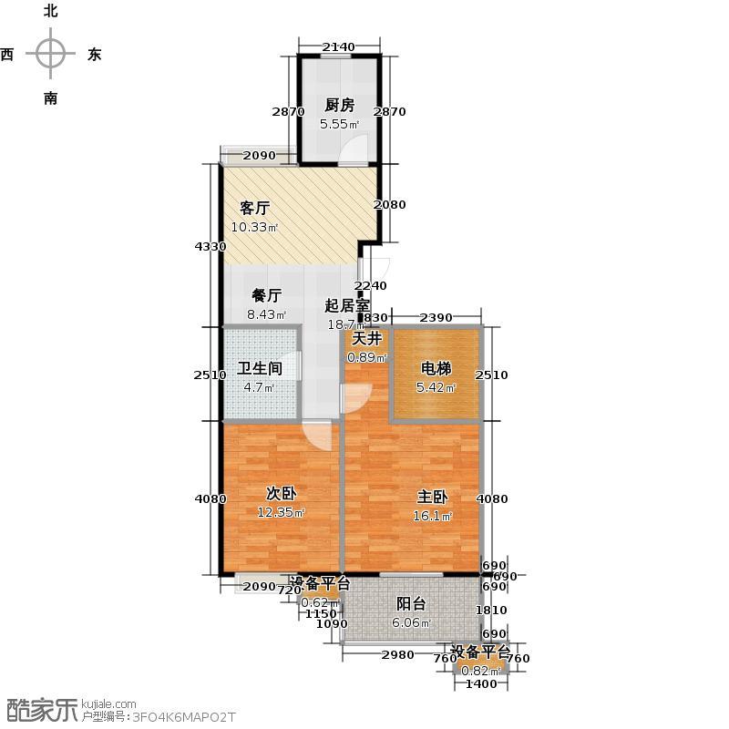 蔚海新天地78.10㎡LG2户型2室2厅1卫