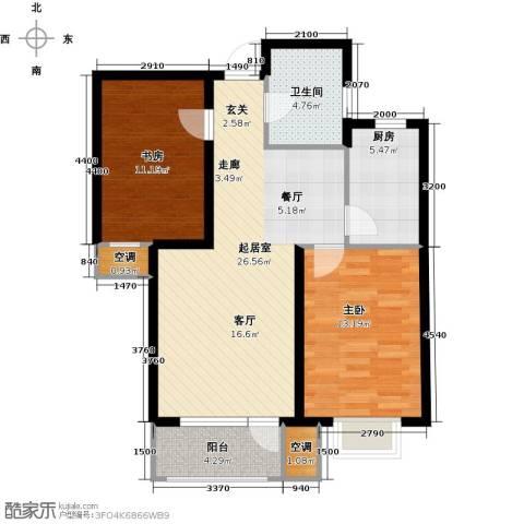 欧铂城2室0厅1卫1厨95.00㎡户型图
