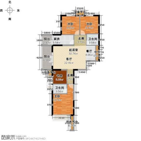 星耀五洲4室0厅2卫1厨127.00㎡户型图
