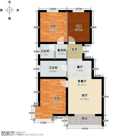 滨海未来城3室1厅2卫0厨107.00㎡户型图
