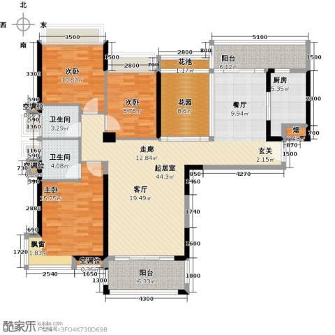 太阳湾3室0厅2卫1厨214.00㎡户型图