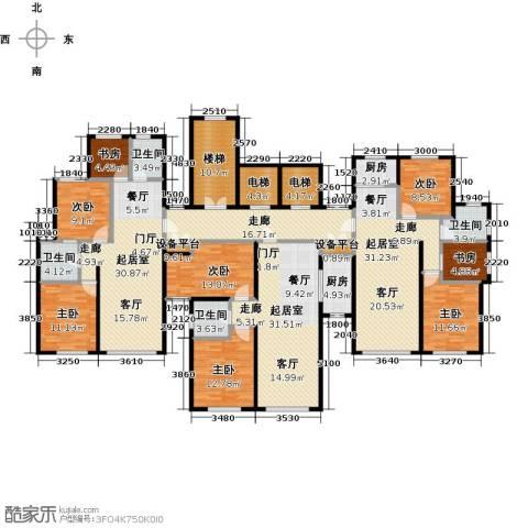 银海新城8室0厅4卫2厨325.00㎡户型图
