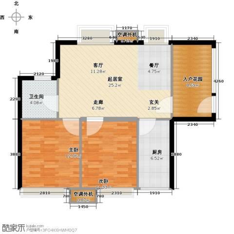 富川瑞园2室0厅1卫1厨76.00㎡户型图
