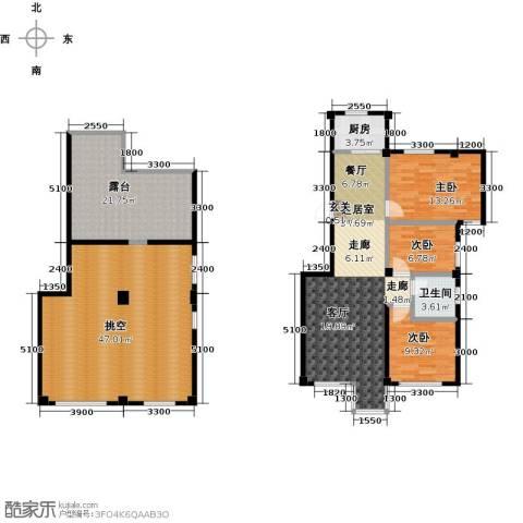 城南公馆3室0厅1卫1厨194.00㎡户型图