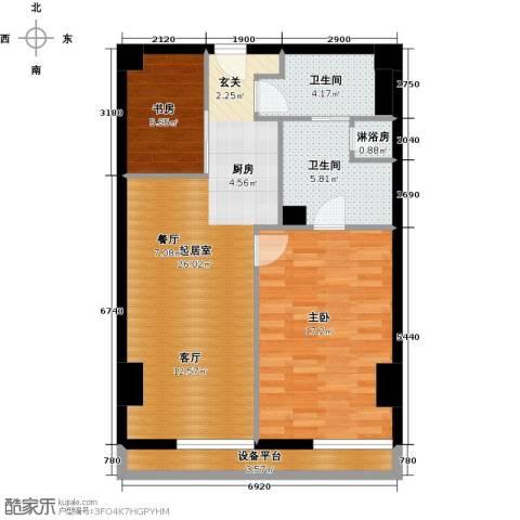 旷世国际2室0厅2卫0厨105.00㎡户型图