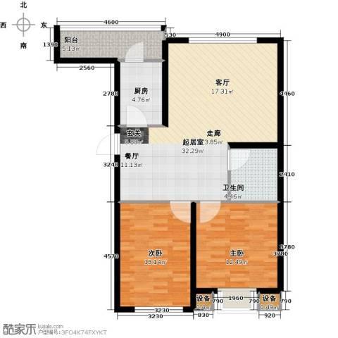 天福城2室0厅1卫1厨103.00㎡户型图