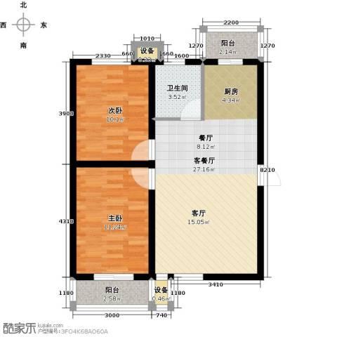 滨海未来城2室1厅1卫0厨110.71㎡户型图
