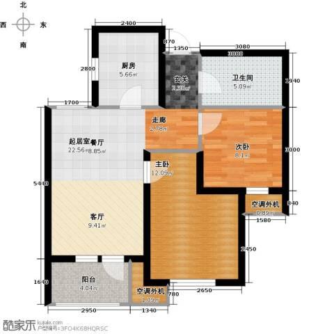 欧铂城2室0厅1卫1厨86.00㎡户型图