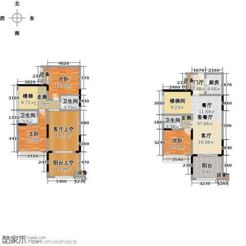 绿城上岛3室1厅3卫1厨211.00㎡户型图