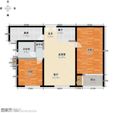 茂华国际汇2室0厅1卫1厨112.00㎡户型图