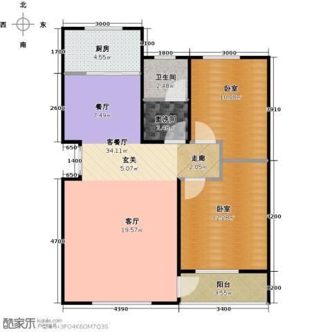 华海城1厅1卫1厨108.00㎡户型图