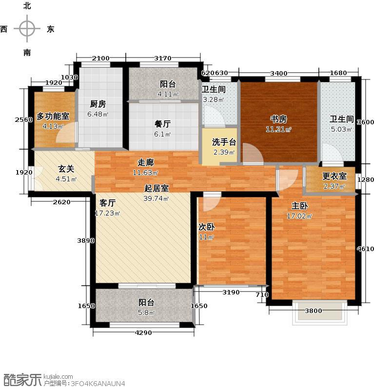 奥莱城139.00㎡C户型3室2厅2卫
