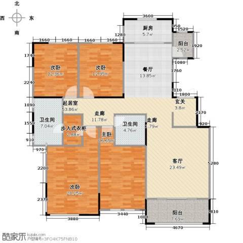 融侨观邸4室0厅2卫1厨196.00㎡户型图