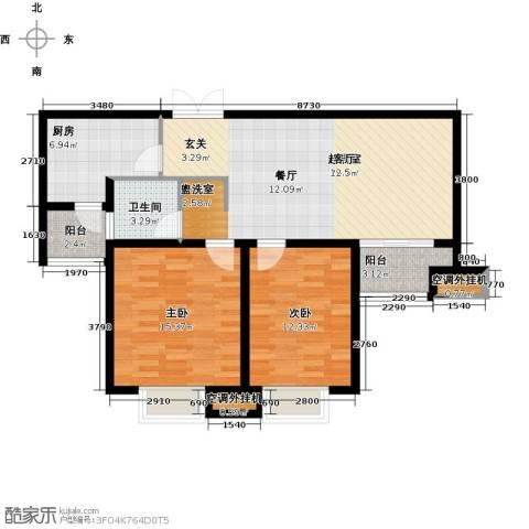 商城凤凰印象2室0厅1卫1厨83.00㎡户型图