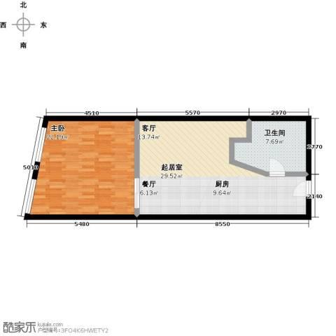 润德汇1室0厅1卫0厨59.39㎡户型图