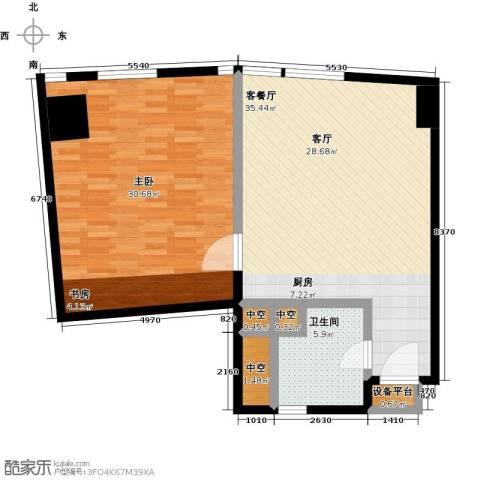 深圳湾1室1厅1卫0厨85.00㎡户型图