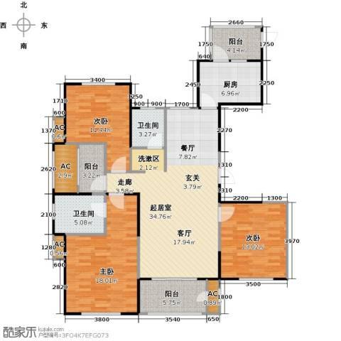华都・襄湾壹号3室0厅2卫1厨150.00㎡户型图