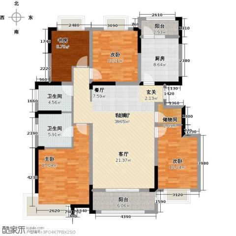 中惠卡丽兰4室1厅2卫1厨137.00㎡户型图