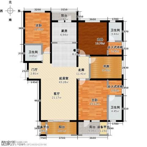 中基碧域4室0厅3卫1厨186.00㎡户型图