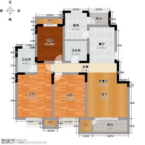 领世公馆3室1厅2卫1厨139.00㎡户型图