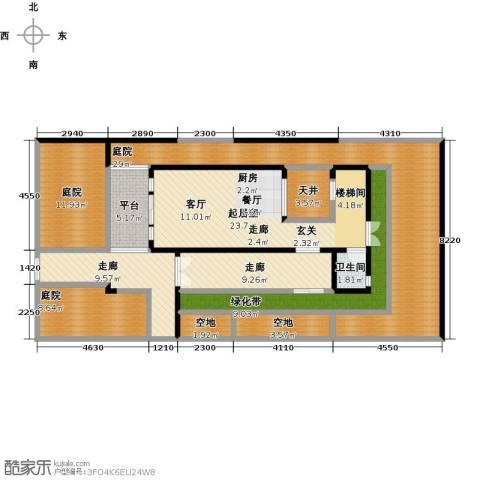中信庐山西海1卫0厨135.00㎡户型图