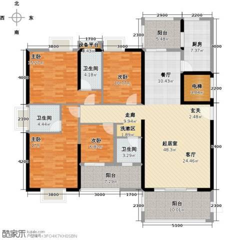 富雅国际4室0厅3卫1厨206.00㎡户型图