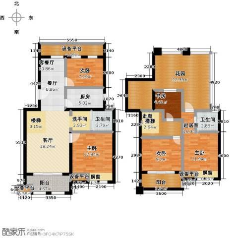 叶与城3室1厅2卫1厨193.00㎡户型图