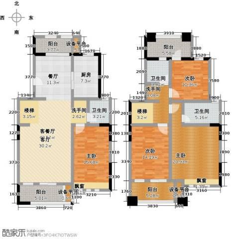叶与城4室1厅3卫1厨224.00㎡户型图