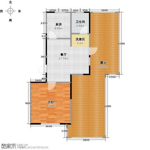 华都・襄湾壹号1室1厅1卫1厨111.00㎡户型图