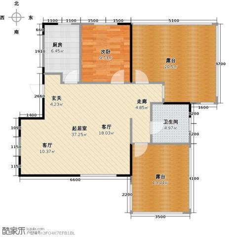 华都・襄湾壹号1室0厅1卫1厨92.33㎡户型图