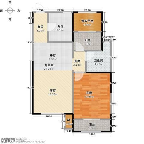 华都・襄湾壹号1室0厅1卫1厨85.00㎡户型图