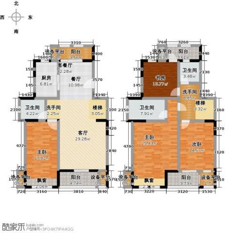 叶与城4室1厅3卫1厨235.00㎡户型图