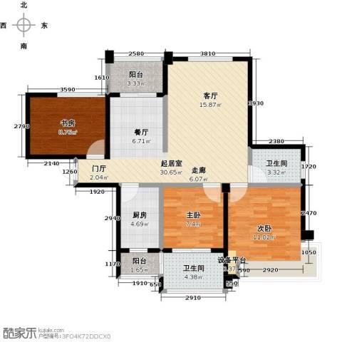 海港城3室0厅2卫1厨88.00㎡户型图
