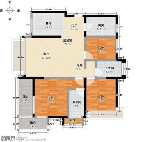 海港城3室0厅2卫1厨103.00㎡户型图