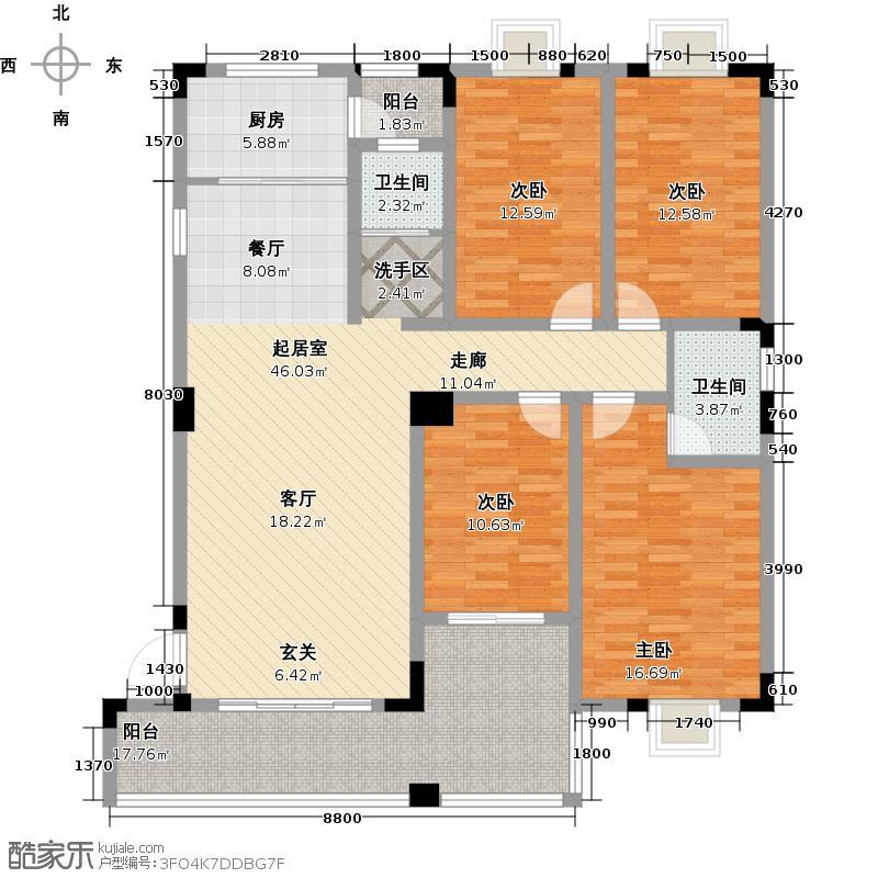 舜皇城户型4室2卫1厨