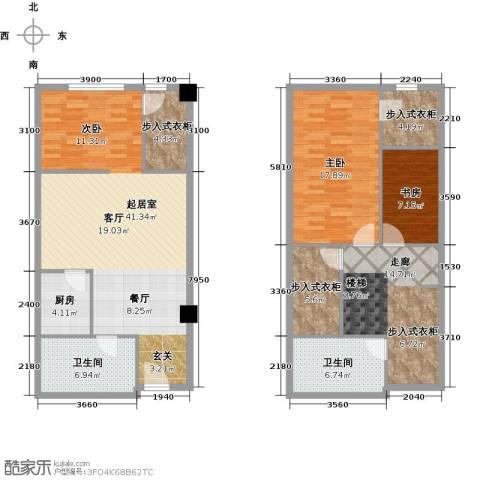 领汇乐城2室0厅2卫1厨113.00㎡户型图
