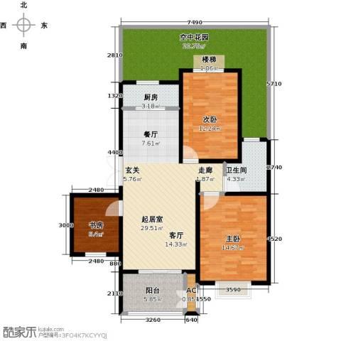 农房幸福小镇3室0厅1卫1厨138.00㎡户型图