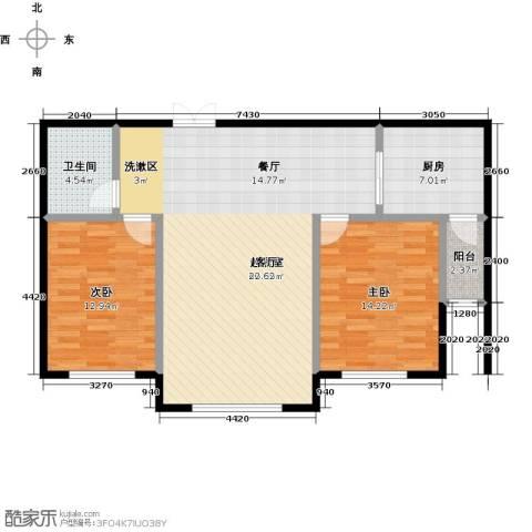 瑞合领秀恋恋山城2室0厅1卫1厨113.00㎡户型图