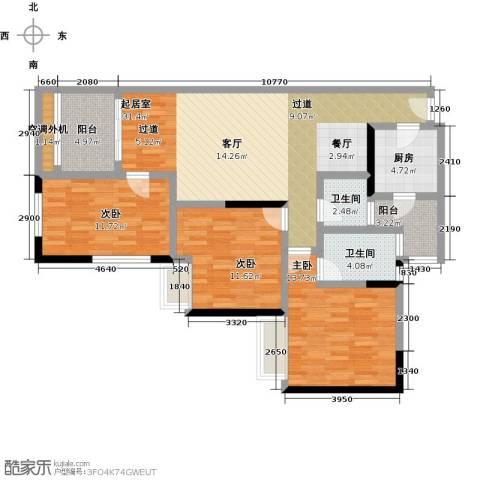 汇通大厦3室0厅2卫1厨131.00㎡户型图