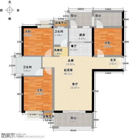 富雅国际3室0厅2卫1厨146.00㎡户型图