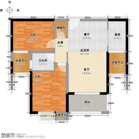 富雅国际2室0厅1卫1厨102.00㎡户型图