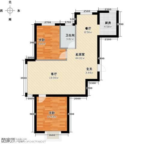 蓝山国际2室0厅1卫0厨98.00㎡户型图