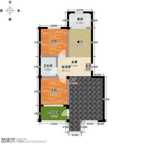 城南公馆2室0厅1卫1厨99.00㎡户型图