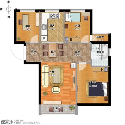 亿锋广场3室1厅1卫1厨101.00㎡户型图